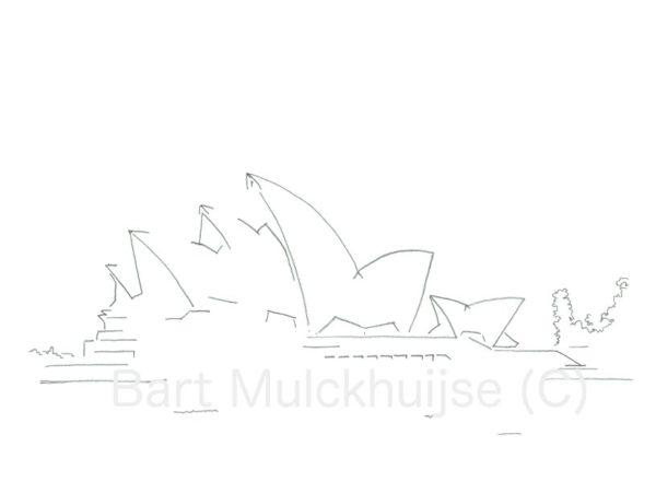 tekening Sydney Opera House