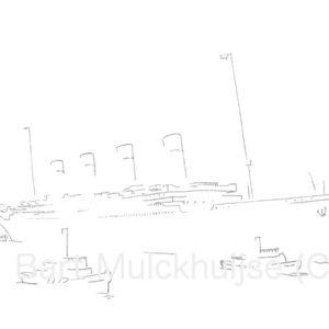 titanic-schip-tekening-Leidse-lijnen