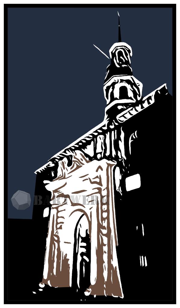 digital-woodcut-linocut--hiver-a-leiden-holland