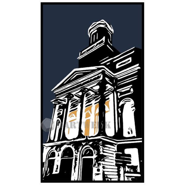 hartenbrugkerk-hiver-a-leiden-holland